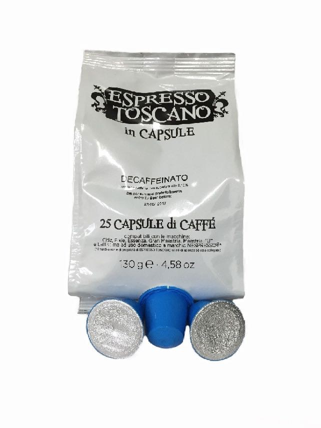 100 Capsule ESPRESSO TOSCANO Compatibili NESPRESSO Decaffeinato