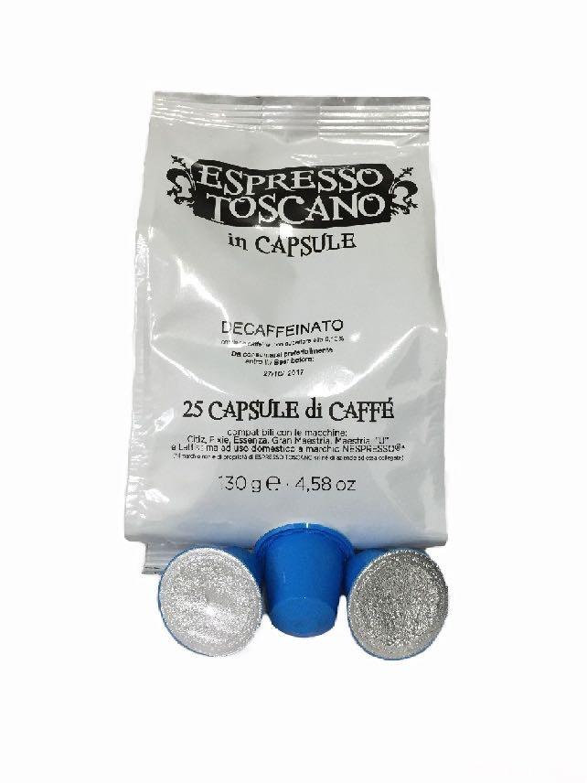 200 Capsule ESPRESSO TOSCANO Compatibili NESPRESSO Decaffeinato