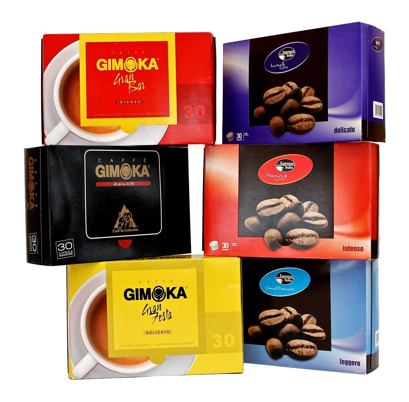 450 capsule GIMOKA e ESPRESSO ITALIA Gusti a Scelta