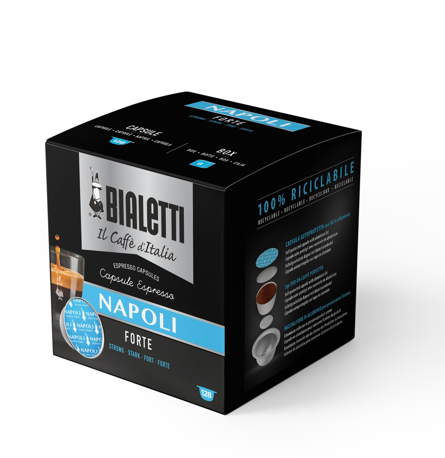 128 Capsule Caffe' Bialetti NAPOLI Confezione Risparmio