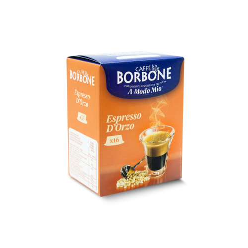 16 Capsule Caffe' Borbone Espresso D'Orzo compatibili A Modo Mio