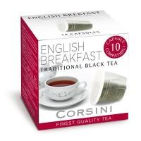 10 Capsule Compatibili Nespresso Caffe' Corsini Te' Nero