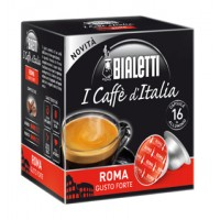 16 Capsule Caffe' BIALETTI Gusto ROMA Forte